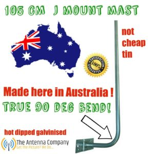 j mount tv Antenna mount 105CM hot dipped Galvanized OZ made Quality 90 deg bend