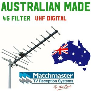 TV antenna uhf Matchmaster Australian Made digital hdtv rg6 f 4g  GMX 400