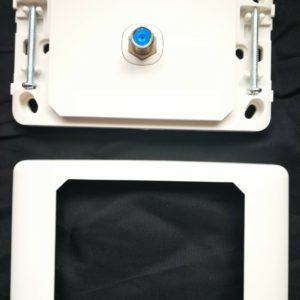 tv antenna wall plate F TYPE Quality 05mm-wp11 with plaster bracket rg6 digital
