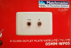 tv fm satellite wall plate 05MM-WP05 matchmaster hi frequency dyplexer low loss
