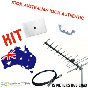 Tv Antenna KIT inc 15m of Rg6 Quad 4g  OZZY Made Quality plug and play digital