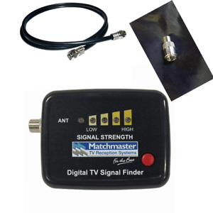 TV signal tester finder for digital UHF VHF Diy great product with test lead kit
