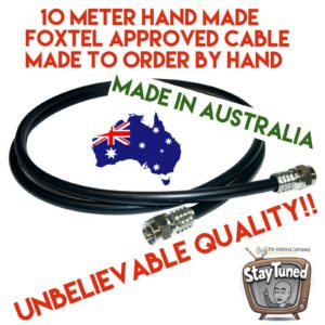 tv lead hand made 10 meter rg6 Quad core cable with f plugs or custom plugs 4tv
