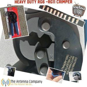 RG6 Crimp Tool Trade Quality Including 10 RG6F Connectors UHF VHF RG11 RG59