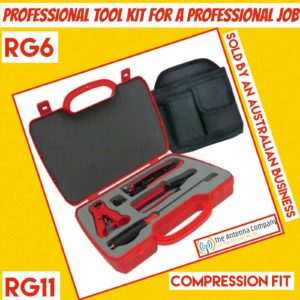 MATCHMASTER Professional Coaxial Cable RG6 Compression Tool Kit 08MM-COMPKIT DTV