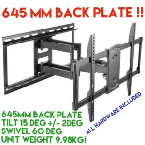 TV Bracket Wall Mount Swivel 42 47 48 49 50 55 60 65 70 Inch Full Motion LCD LED