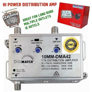 booster distribution amplifier big kahuna uhf vhf digital 10mm dma42 matchmaster