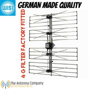 TV uhf antenna outdoor digital 4G matchmaster wisi German engineering 02mm ee o6
