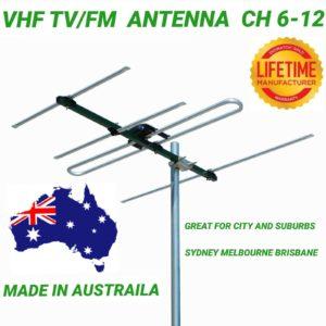 VHF TV/FM antenna ch 6-12 4 hdtv outdoor digital matchmaster quality 03MM DR3004