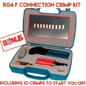 TV Antenna Rg6 Crimp Tool Kit Matchmaster Quality UHF VHF RG6 RG59 RG11