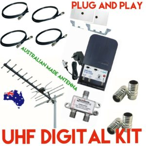 "DIGITAL TV Antenna kit 2 WAY ""4G"" HD SYSTEM PLUG AND PLAY WITH BOOSTER"