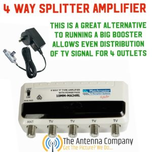 Amplified 4 way Splitter 10mm-MA24rl