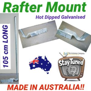 TV Antenna mount bracket gutter mount galvanised oz made also use for Ham radio