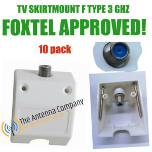 Skirting Board TV Antenna mount f Female including screws fox approved 10 pack