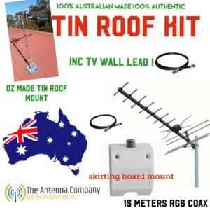 Tv Antenna KIT inc 15m of Rg6 Quad 4g  OZZY Made Quality plug and play digital