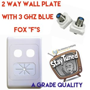 TV ANTENNA  wall plate av dual hole with cable tidy 05mm wp62 matchmaster with f