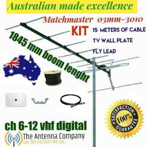 VHF tv antenna 10 element outdoor digital  matchmaster quality 03MM DR3010 KIT