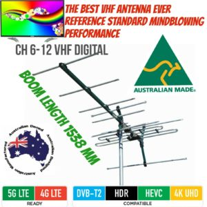 VHF tv antenna 8 element outdoor digital  matchmaster quality 03MM Dc21V hd tvs