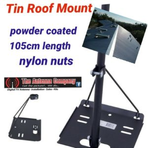 tin roof  mount for tv Antenna  powder coated  HEAVY DUTY  WITH POLE  105 cm A1+