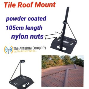 TILE ROOF mount for tv Antenna  powder coated HEAVY DUTY  WITH POLE QUALITY MADE