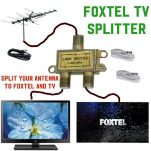 foxtel TV Antenna splitter connect both at once get your TV back as it should be