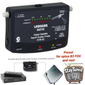 satellite tester finder optus fox b3 vast pre programmed sq 722 caravan tool diy