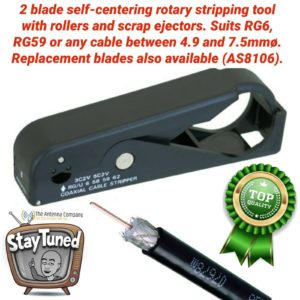 Coax stripping tool rg 6 rg 59 quality reliable roller design 4 professional use