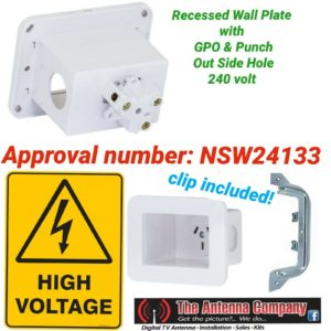 recessed power point  Australian approved quality behind tv fridge audio 240 V