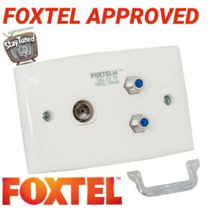 TV outlet wall plate foxtel dual f 3 ghz & pal with wall clip HDTV approved DIY