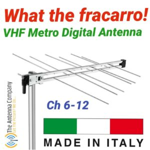 VHF tv antenna Fracarro log periodic 6-12 metro Digital HDTV vertical horizontal