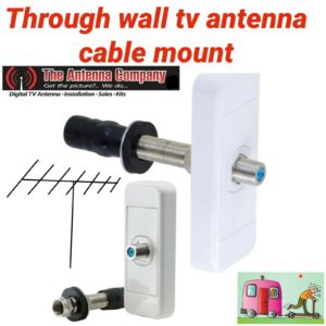 CARAVAN WALL PLATE INTERNAL/EXTERNAL TV CONNECTOR THROUGH WALL F TYPE OZY STOCK