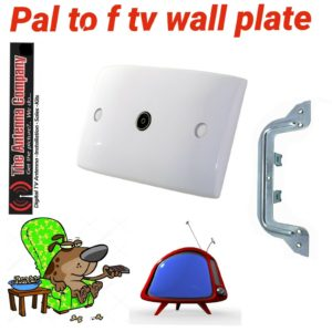 Wall Plate PAL to F-Type Socket Outlet for TV Antenna Aerial Coax Lead Cable DTV