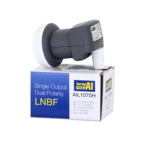Satellite LNBF Dual Polarity Single Output 10.7GHz High Gain AI