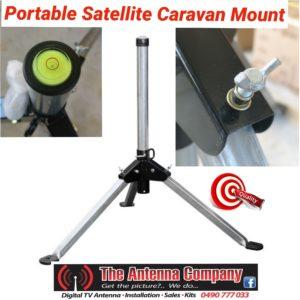 portable satellite mount for caravan travel