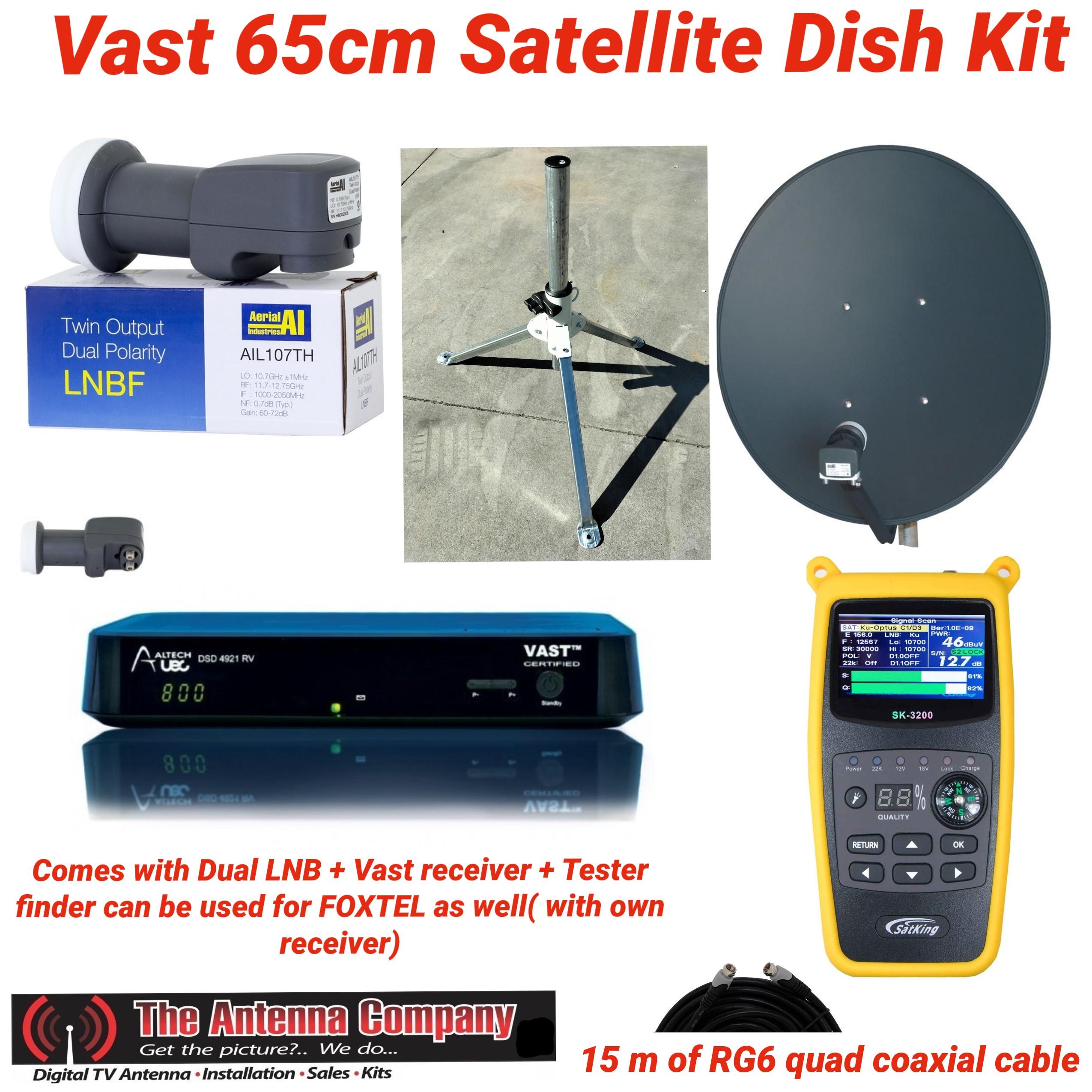 vast dish kit portable